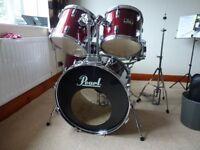 Pearl Export 5 piece drum kit – Wine red – 1980's vintage