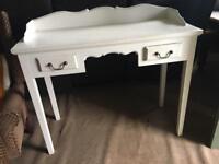 Lovely dressing table desk in white