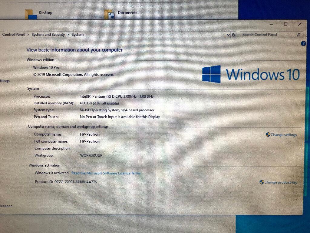 HP Pavilion Desktop & Screen Pentium D 3 0 Ghz, 4GB RAM, 120GB SSD, 22 inch  Monitor, WiFi | in Wallsend, Tyne and Wear | Gumtree