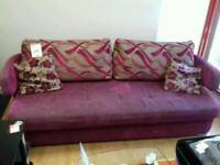 Amazing 4 seater pink fabric sofa