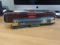 Hornby R2254 Class 47 47120 in BR blue with large logo (weathered) - OO Gauge