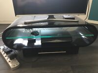Black gloss TV unit