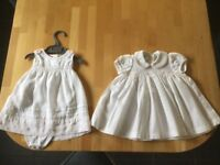 Two lovely special baby dresses. Used only for Christening Day