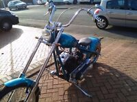 One off custom chopper pro build proper chop real head turner