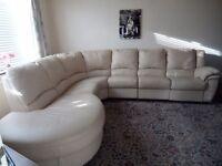 3 Piece Leather recliner corner suite