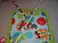 Play mat and Lindam's baby bouncer