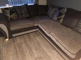 Dfs corner sofa and footstool