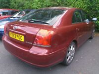 Toyota Avensis 2L 5dr Automatic Tspirit Red Fully Loaded Petrol 87K