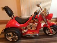 Ride on kids electric red chopper