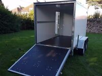 Twin axle box van trailer twin axle with brakes and ramp - Full EU Only £2700 plus vat