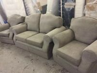 Grey Marks & Spencer's sofa and chairs