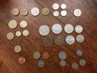 Collection of unusual foreign coins including several South Pacific islands