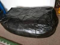Moroccan leather poof