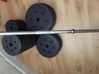 Vinyl weights 52.5 kg for quick sale