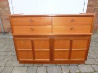 Retro NATHAN (Parker Knoll) Sideboard with 4 drawers, two cupboards