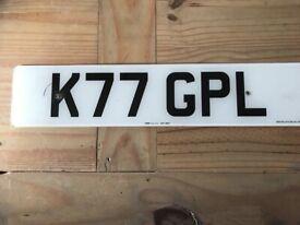 K77 GPL number plate