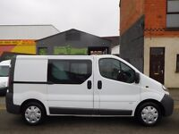 NO VAT! Vauxhall Vivaro SWB 6 seat factory fitted crew cab van one owner from new (11)