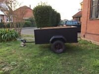 Car Trailer 3x4 used, Light and tidy