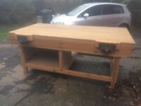 8 x 4 bench with quick release vices, woodworking, joiners bench