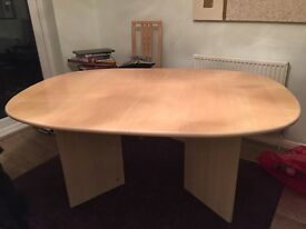 Dining table and 4 chairs ash colour