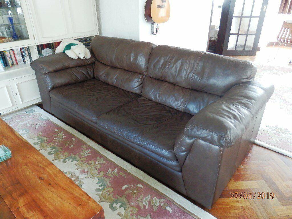 Excellent Eldorado Grade Semi Aniline Leather 3 4 Seater Sofa And