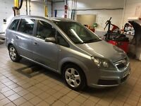 VAUXHALL ZAFIRA 1.8. 12 MONTHS MOT. 1 OWNER FROM NEW