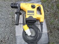 DeWalt 110v SDS Drill with chisel action and carry box