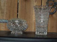 Cut glass items
