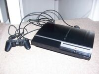 SONY PS3 MODEL no. CECHK03 BLACK 80GB complete with 20 GAMES excellent condition