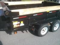 """3.5 tonne 6'x10'x24"""" dump trailer rental and truck for rent"""
