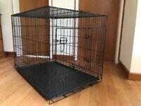Dog crate - Large -2 door - folding - As new