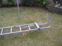 roof ladder, vgc , 5 mtr then hook, and wheels £80 ono