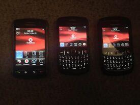x3 Blackberry phones - must go ASAP