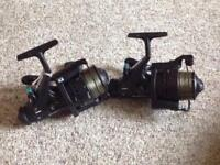 Pair of Silstar baby bait runner reels