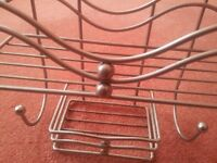 Shower Caddy Used Thick Coated Material with Curves and Round Knobs