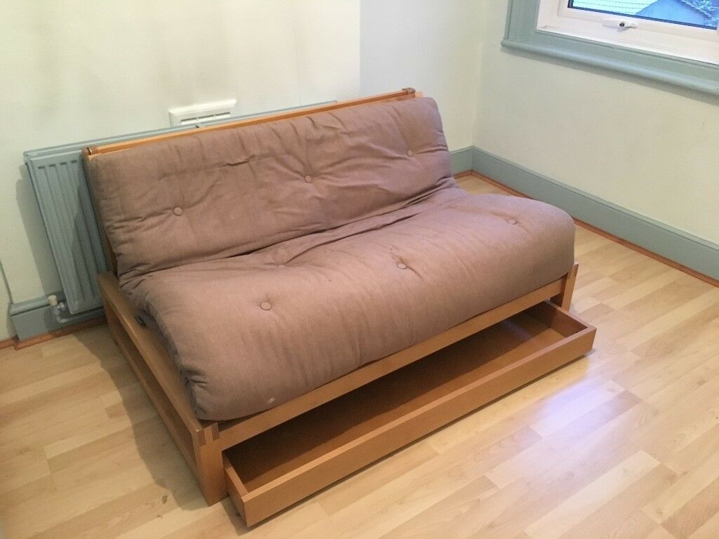Futon company 2 seat trifold with drawer