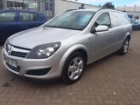2008 08 VAUXHALL ASTRA CREW-VAN 5 SEATER PROFESSIONAL CONVERSION FROM NEW, DRIVE AS A CAR OR VAN !!!