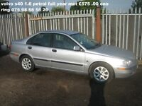 VOLVO S40 FULL YEAR MOT 1.6 PETROL LOOKS AND DRIVES VERY WELL CHEAP TO CLEAR