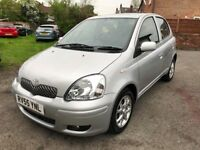 2005 TOYOTA YARIS 1.3 T.SPRIT (AUTOMATIC) 64,000 MILES ,SERVICE HISTORY, MOT TILL FEB 2019