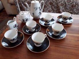 COFFEE SET. Bavaria winterling. MARKTLEUTHEN.15 PIECES.