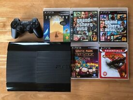 Playstation 3 Super Slim 500GB + controller + 5 games + HDMI cable