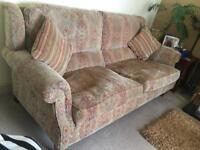 Parker Knoll 3 Seater Sofa & Footstool.
