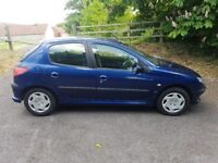 53 peugeot 206, petrol 1.4, very low mileage 47200