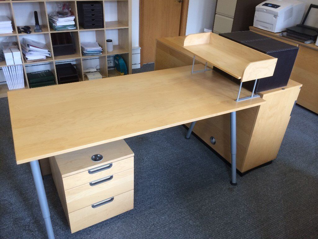 6 Ikea Professional Desks 180x80cm Adjule Height Birch Plus Orted