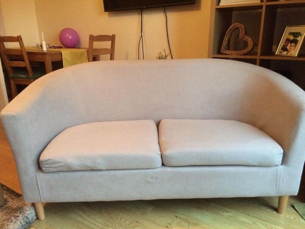 Argos Home 2 Seater Fabric Tub Sofa Mocha