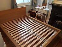 Double Ikea Malm Bed frame. Brilliant Condition