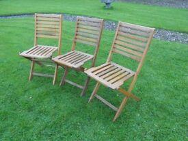 3 Folding Good Quality Chairs