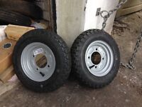 New trailer wheels and tyres. Never used brand new.