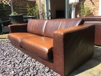 Brown Leather Sofa *must be sold this week or giving to charity*