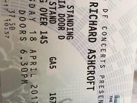 1 x Standing Richard Ashcroft Ticket
